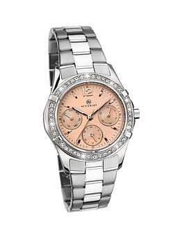accurist-accurist-stainless-steel-rose-dial-bracelet-ladies-watch