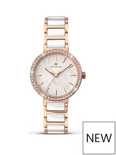 accurist-mother-of-pearl-rose-gold-and-stone-set-dial-with-white-ceramic-and-rose-gold-bracelet-watch