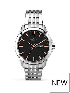 accurist-accurist-men039s-black-dial-bracelet-watch