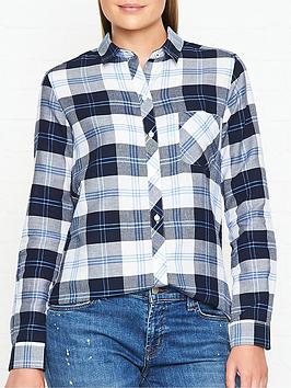 barbour-foreland-check-shirt-navy