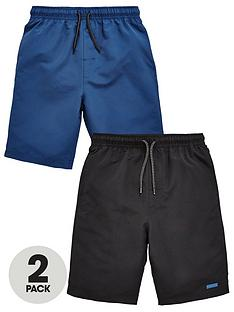 v-by-very-2-pack-blackblue-swim-shorts