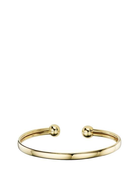 a0653e912aa76 9 Carat Yellow Gold Ladies Torque Bangle