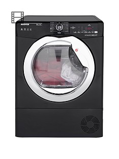 hoover-dynamic-next-dxh9a2tceb-9kg-load-aquavision-heat-pump-tumble-dryer-with-one-touchnbsp--blackchrome