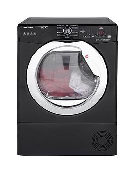 Hoover Dynamic Next Dxh9A2Tceb 9Kg Load, Aquavision, Heat Pump Tumble Dryer With One Touch - Black/Chrome