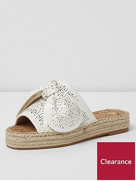 river-island-river-island-wide-fit-laser-cut-mules--white