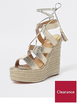 river-island-river-island-platform-tie-up-wedges--gold