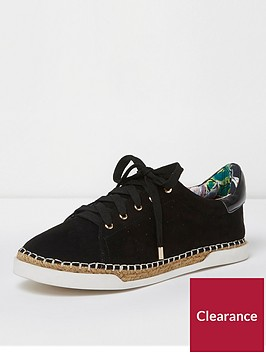 river-island-lace-up-espadrille-trainer-black