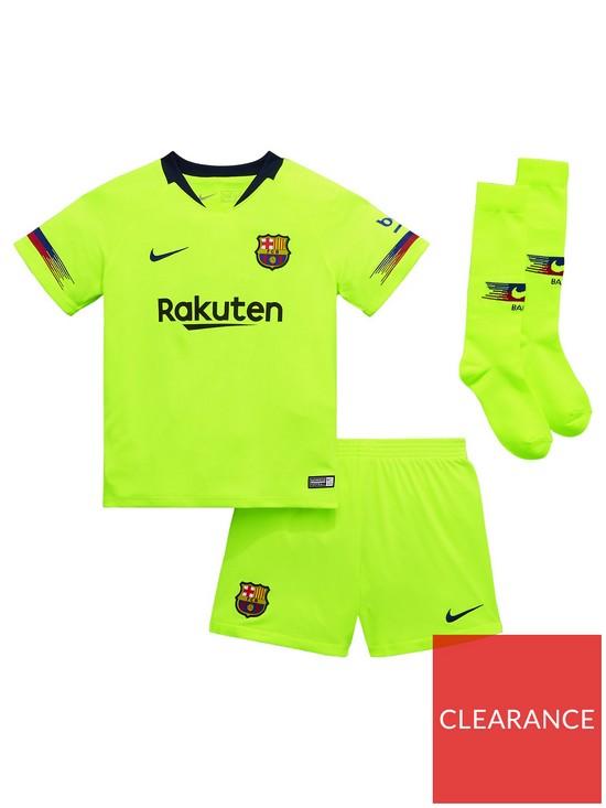 ee2a0f5fb Nike Little Kids Barcelona 18 19 Away Kit - Volt