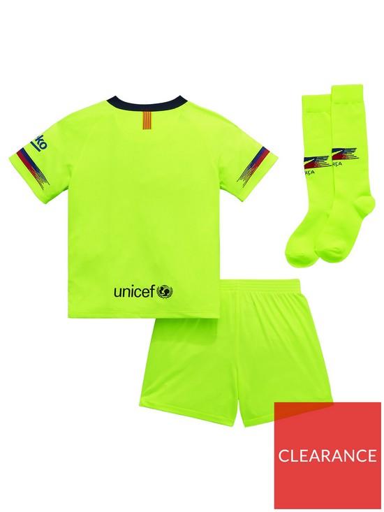 b4305c518 ... Nike Little Kids Barcelona 18 19 Away Kit - Volt. View larger