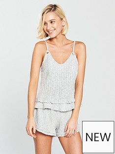 river-island-frill-hem-cami-top-grey
