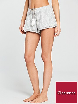 river-island-frill-hem-shorts--grey