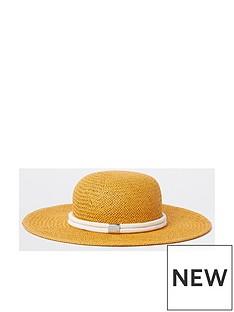ff11cd640d5 River Island River Island Bee Keeper Floppy Straw Hat- Yellow