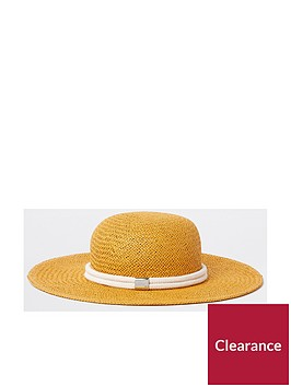 river-island-river-island-bee-keeper-floppy-straw-hat--yellow