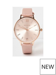 river-island-sunray-dial-watch-light-pink