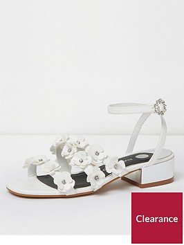 river-island-river-island-flower-strap-heeled-sandals--white