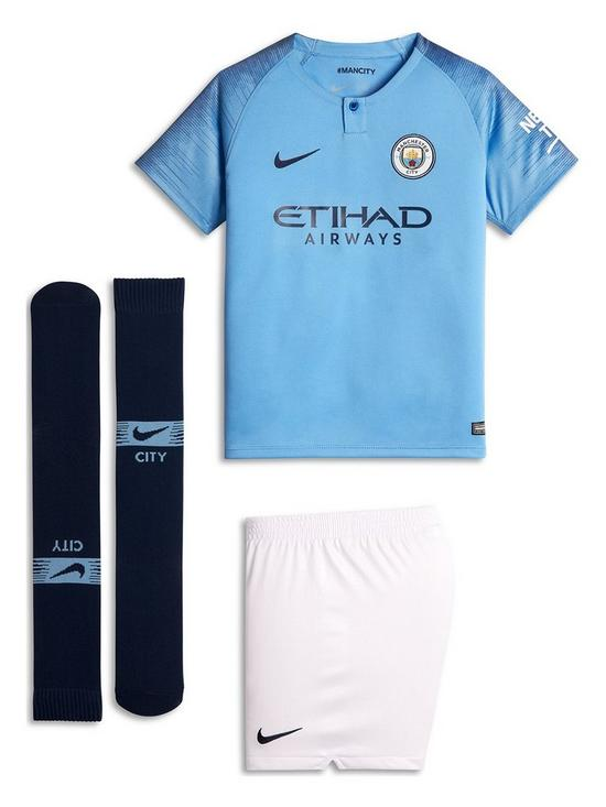 newest fb1f1 71fb5 Little Kids Manchester City 18/19 Home Kit