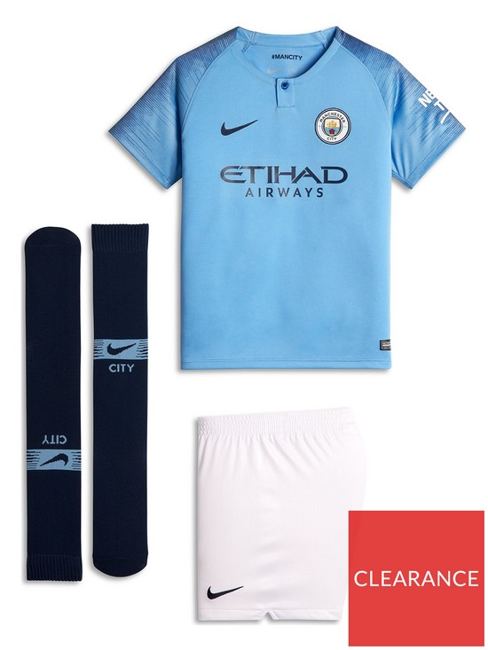Nike Little Kids Manchester City 18 19 Home Kit  a1e697809