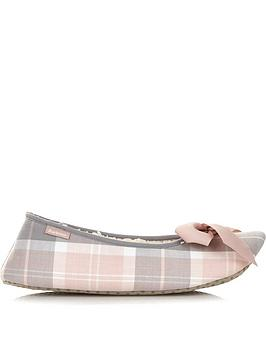 barbour-lily-tartan-ballet-slippers-pink