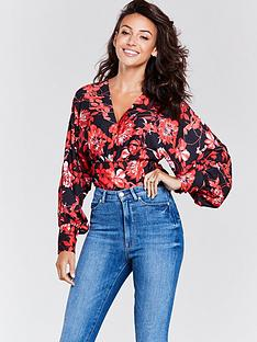 michelle-keegan-bow-back-bodysuit-printed