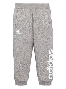 adidas-younger-boys-linear-sweat-pants-grey