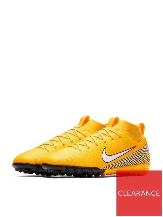 b080a593a60 Nike Junior Neymar Mercurial Superfly VI Academy Astro Turf Football Boots  - Amarillo White