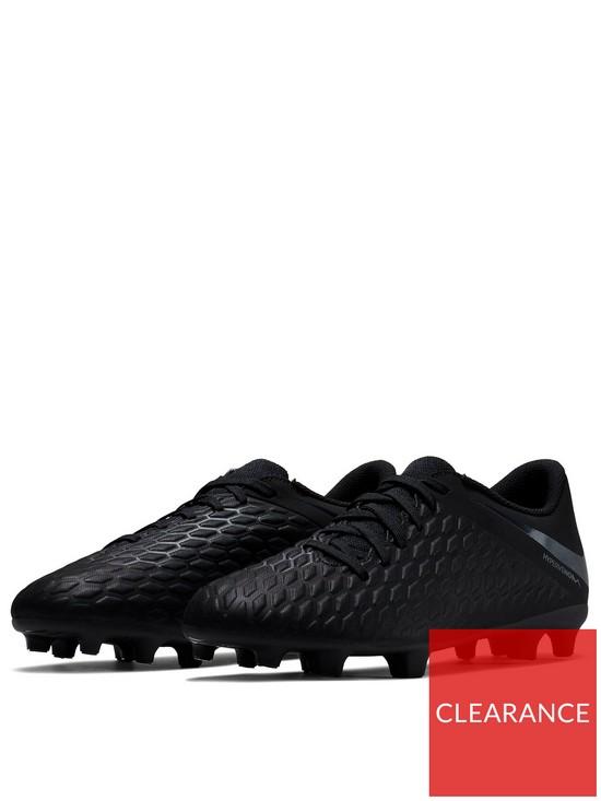 b7988e4ab Nike Hypervenom Phantom III Club Firm Ground Football Boots - Black ...