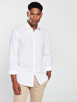 hugo-long-sleeve-poplin-slim-fit-shirt-white