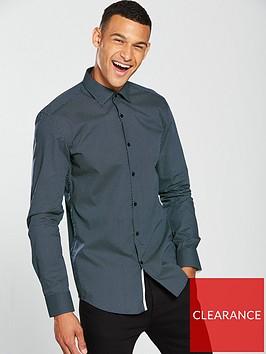 hugo-long-sleeve-print-shirt-navy