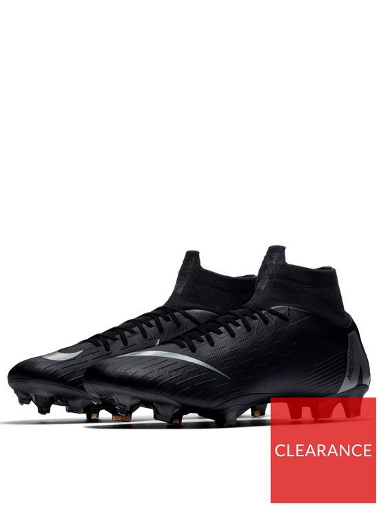 best cheap db7da 42aa1 Mercurial Superfly VI Pro Firm Ground Football Boots - Black