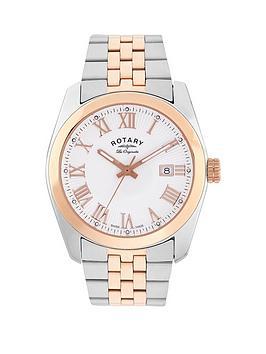 rotary-rotary-swiss-made-lausanne-with-white-and-rose-gold-sunburst-textured-dial-and-two-tone-stainless-steel-strap-ladies-watch