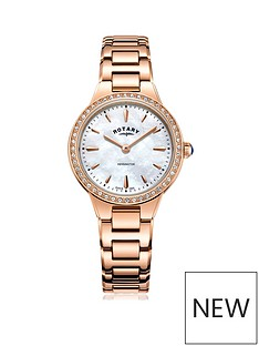 rotary-rotary-kensington-mother-of-pearl-dial-with-stone-set-bezel-and-rose-gold-stainless-steel-strap-ladies-watch