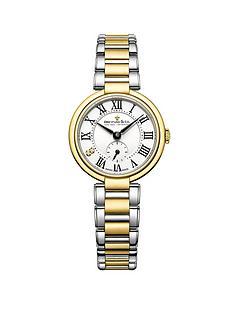 dreyfuss-co-1974-white-roman-stainless-steel-bracelet-ladies-watch