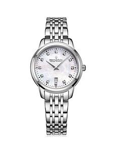 dreyfuss-co-1890-mother-of-pearl-dial-with-diamond-set-numerals-and-stainless-steel-strap-ladies-watch