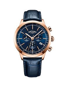 rotary-rotary-rose-gold-and-cambridge-blue-chronograph-dial-with-blue-leather-strap-mens-watch