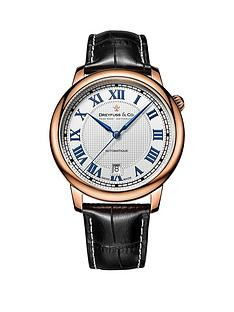 dreyfuss-co-white-printed-roman-dial-rose-gold-plated-strap-mens-watch