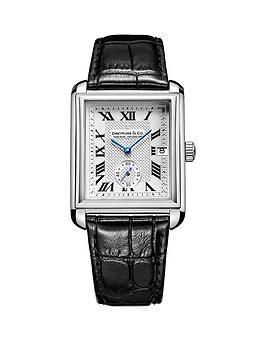 dreyfuss-co-dreyfuss-silver-printed-roman-dial-stainless-steel-strap-mens-watch