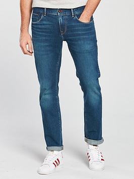 Tommy Hilfiger Tommy Sportswear Straight Denton Jeans, Dark Wash, Size 30, Inside Leg Regular, Men thumbnail