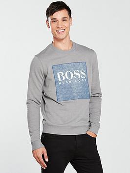 boss-casual-patch-logo-sweat-top