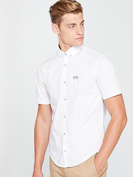 boss-short-sleeve-button-down-shirt-white