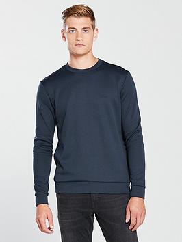 boss-crew-sweatshirt-navy