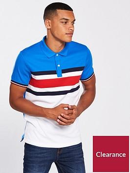 tommy-hilfiger-sportswear-stripe-slim-polo-top-whiteblue