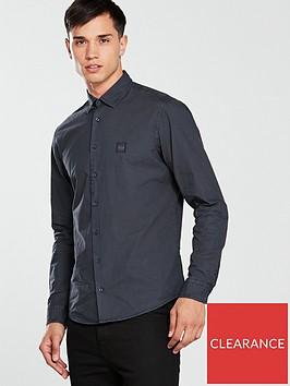 boss-ls-poplin-shirt-dark-bluenbsp