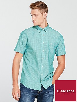 tommy-hilfiger-sportswear-diamond-dobby-short-sleeve-shirt-blue