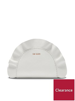 ted-baker-roseey-leather-ruffle-crossbody-bag-white
