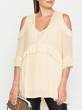 by-malene-birger-gloriosah-cold-shoulder-ruffle-and-pleated-blouse-cream