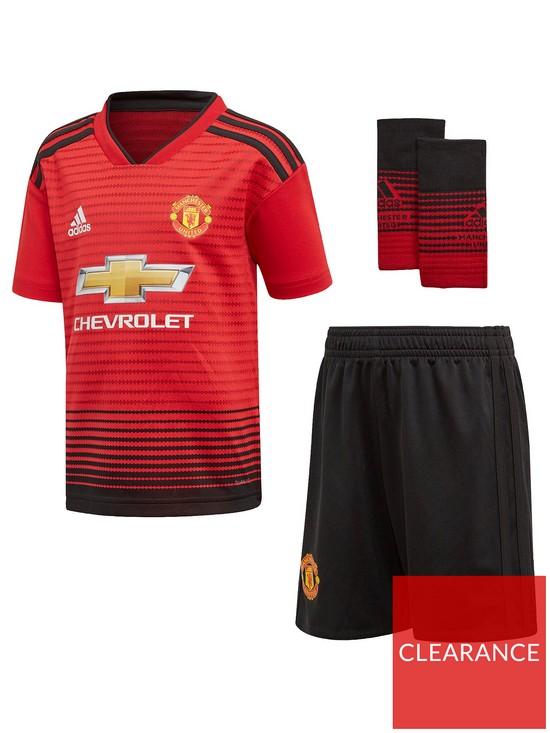 85578e2f9 adidas Adidas Manchester United Infant 18 19 Home Mini Kit