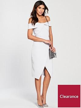 lavish-alice-woven-twist-bardot-midi-dress-grey