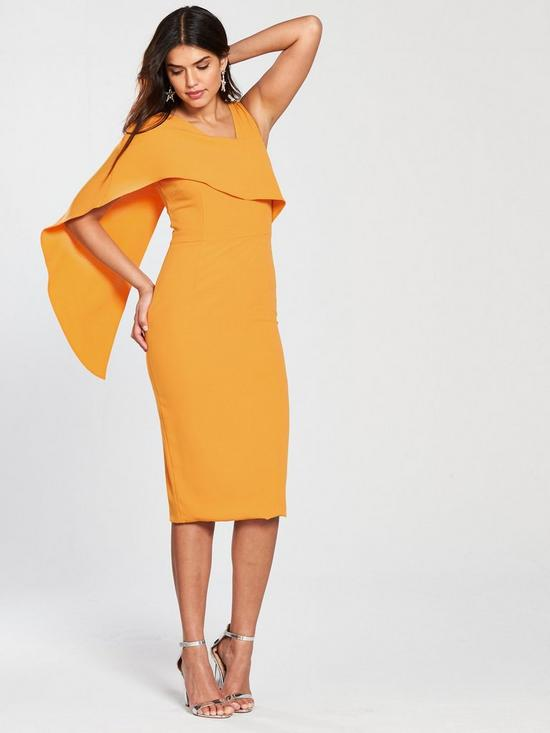 midi knot draped drapes core dress
