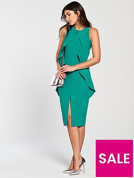 lavish-alice-woven-tiered-draped-midi-dress-jade-green