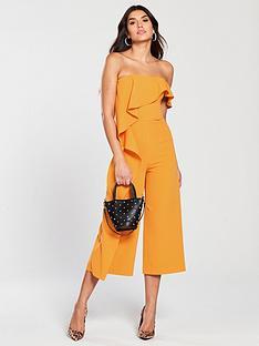 lavish-alice-bardot-asymmetric-draped-culotte-jumpsuit-tangerine